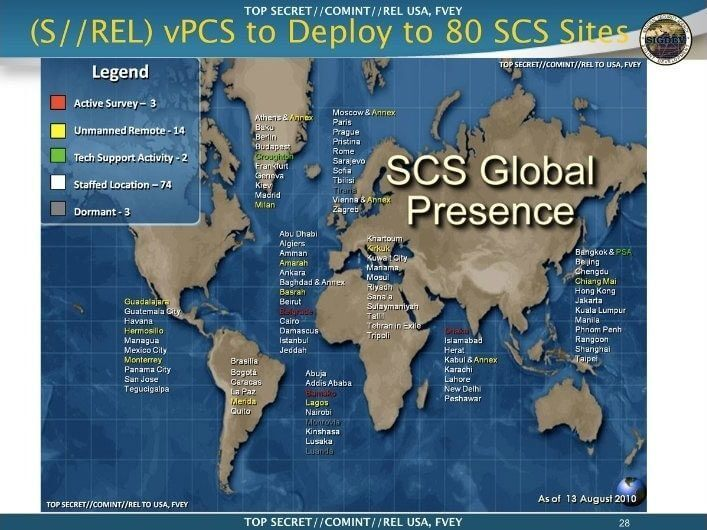 NSA Global Sites