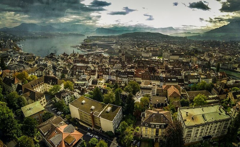 Quadcopter over Luzern