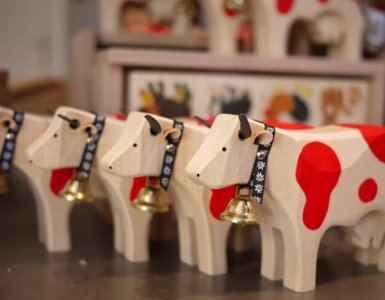 Swiss Handmade Toy Cows
