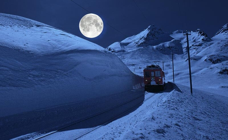 Rhaetische Bahn Moonlight Trainride