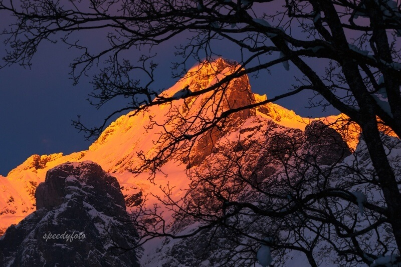 Speedyphoto - Sunset in Grindelwald, Switzerland