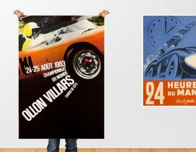 Vintage Automotive Car Posters Geneva Motor Show