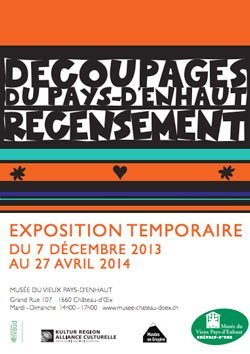 Decoupage Exhibit Flyer