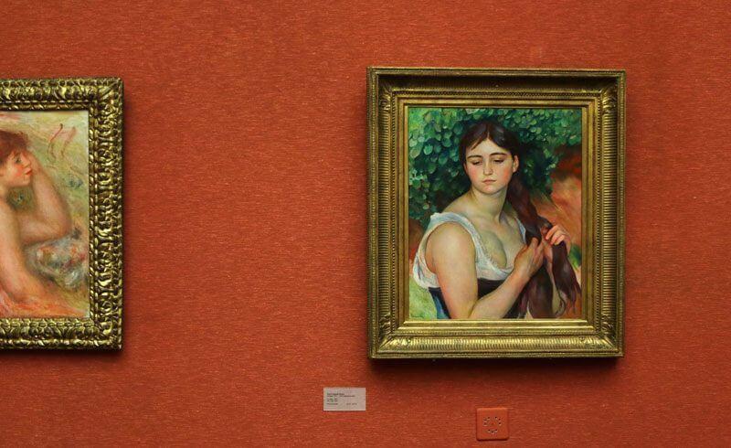 Museum Villa Langmatt Baden - Pierre-Auguste Renoir - The plait (La natte)