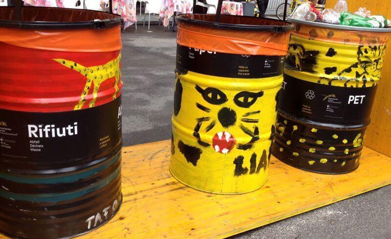 Locarno Film Festival - Leopard Trash Cans