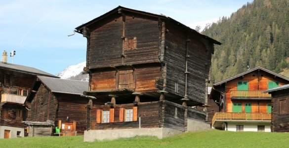 Switzerland - Wallis Valais House on Stilts