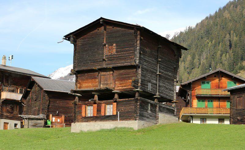 Switzerland - Wallis Valais House on Stilts