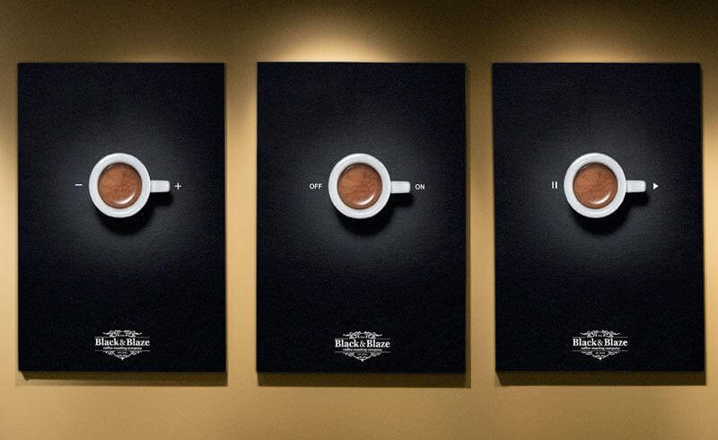 Black&Blaze Coffee Ads