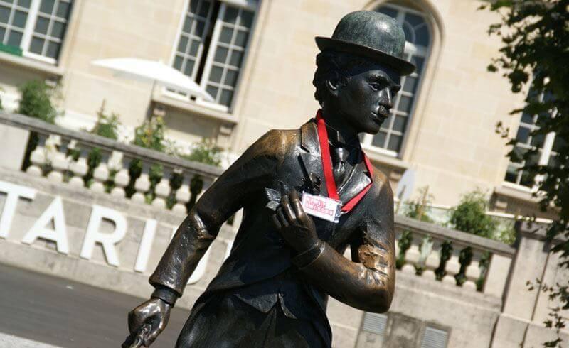 Charlie Chaplin Statue in Vevey