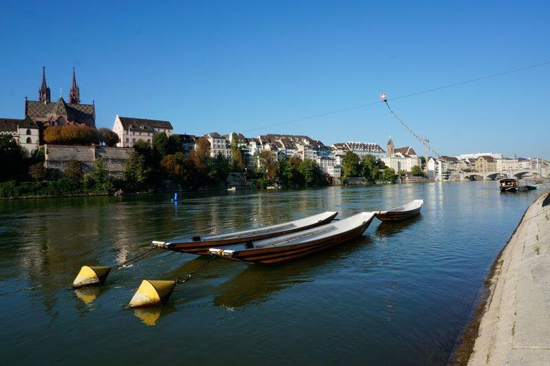 Rhine Walk in Basel, Switzerland