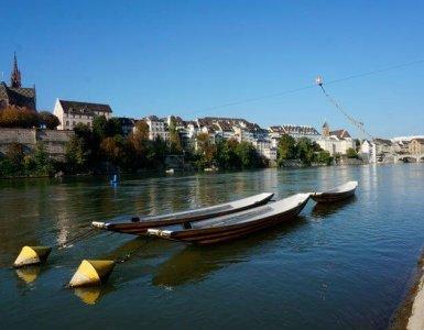 Rhine Walk in Basel, Switzerland