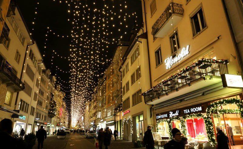 Zurich Rennweg - Christmas Decoration