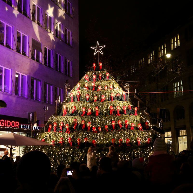 Zürich - Singing Christmas Tree