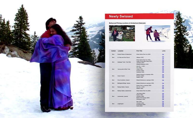 Bollywood Filming Locations in Switzerland
