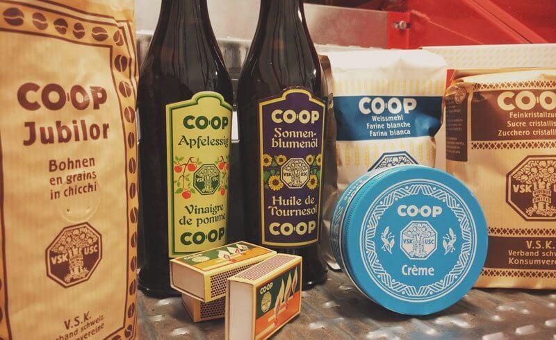 Vintage Swiss Packaging Design by Coop