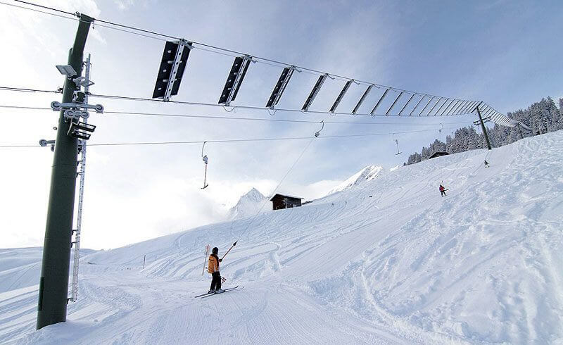 Solar Powered Swiss Ski Lift