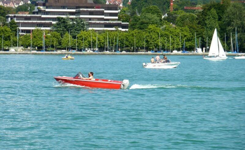 Boat on Lake Zurich