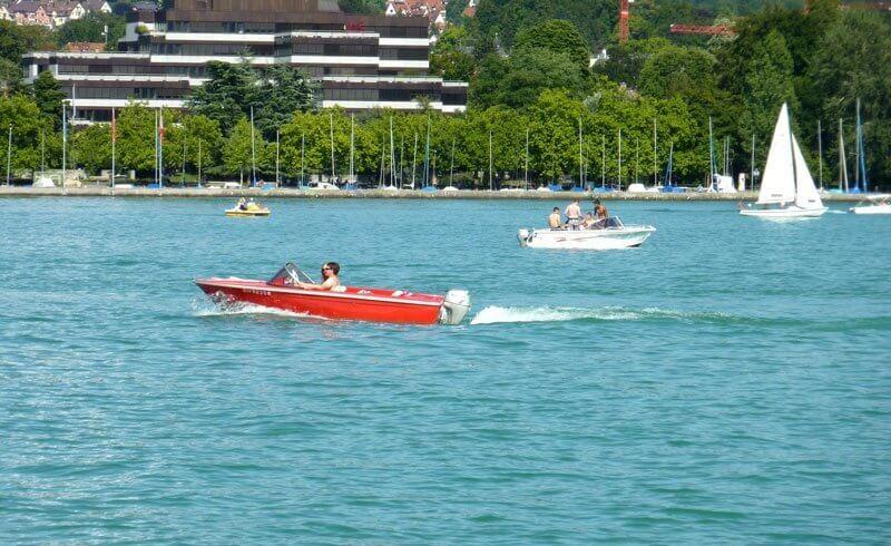 Boat on Lake Zurich