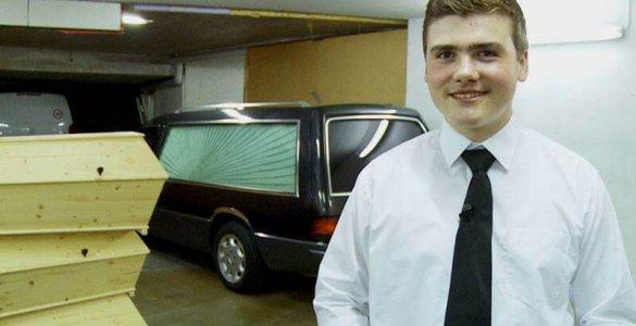 Switzerland's Youngest Undertaker Kevin Huguenin