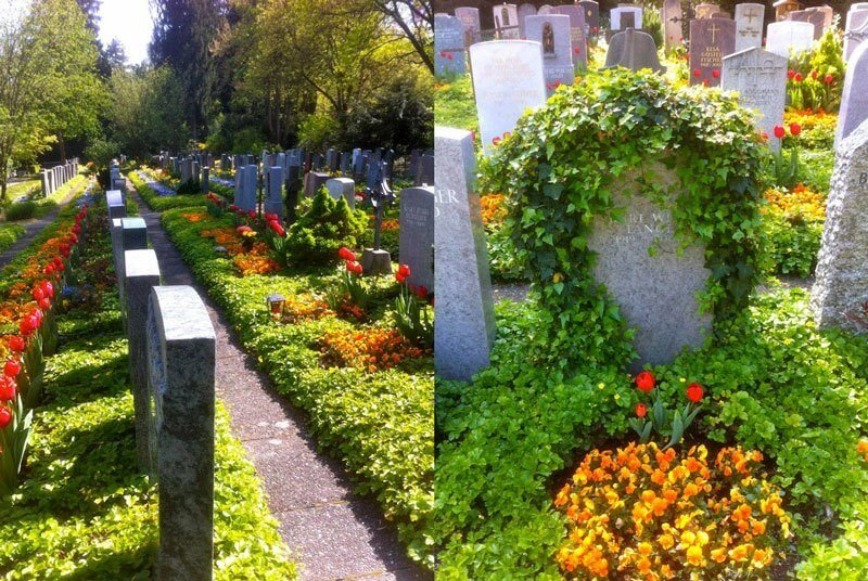 Zurich Cemetery - Grave gardens is what they really ought to be called!