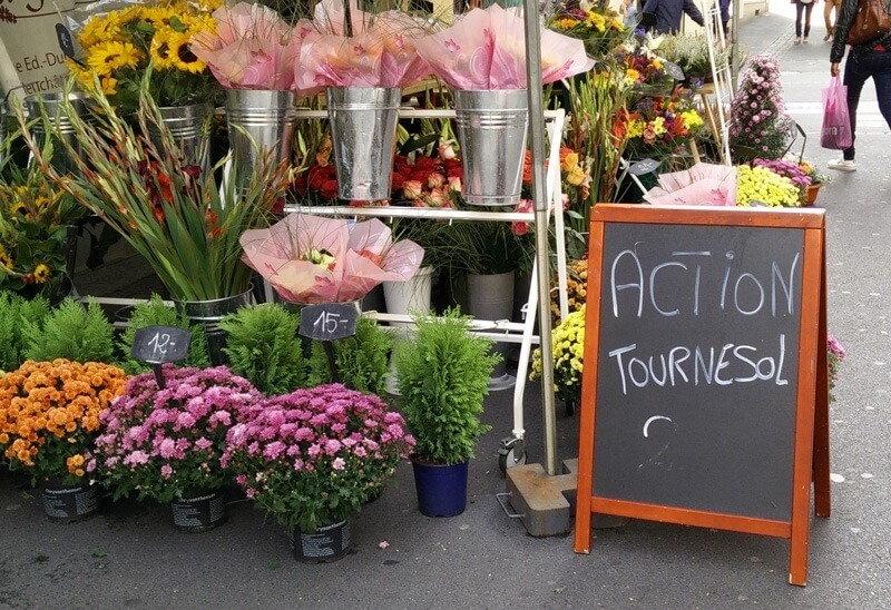 Swiss French - Action Flowers