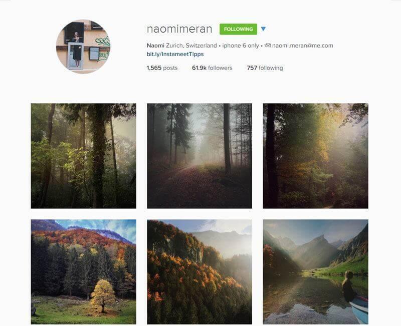 Swiss Instagrammers - naomimeran