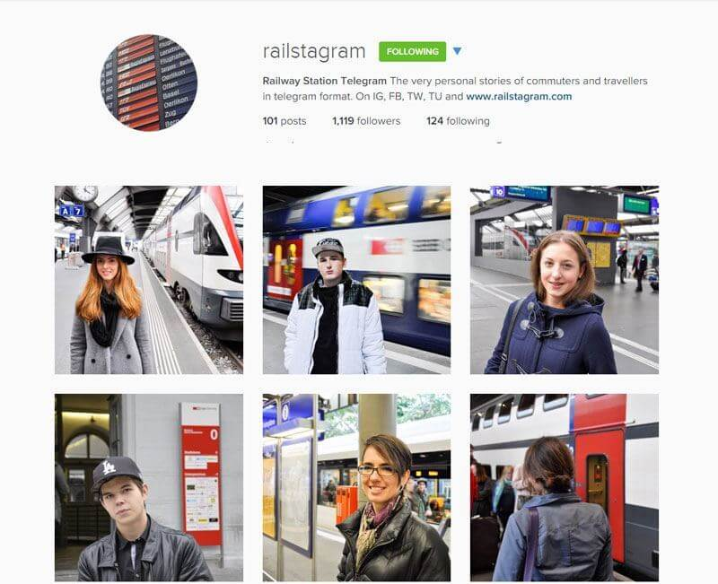 Swiss Instagrammers - railstagram