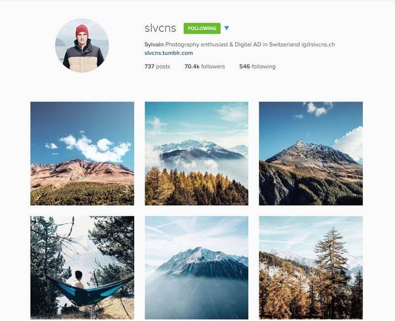 Swiss Instagrammers - slvcns
