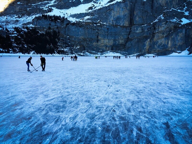 Oeschinensee Ice Skating 2017