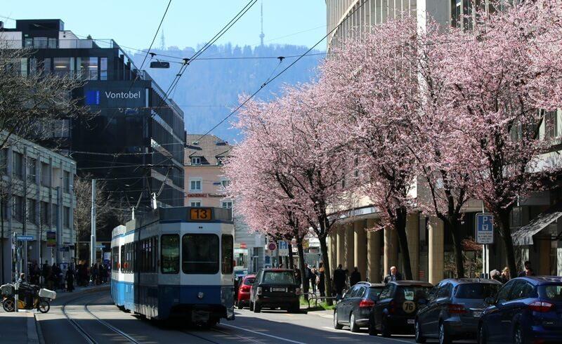 Zurich Bleicherweg - Tram