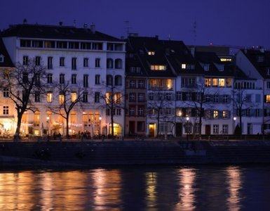 Basel - Rhine at Night