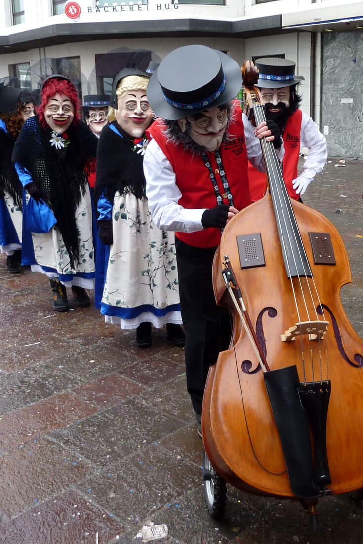 A typical band at the Luzerner Fasnacht Carnival
