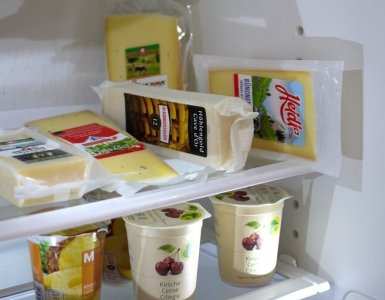 Swiss Cheese inside Fridge