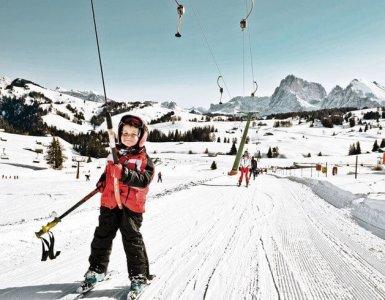 Swiss Toddler Skiing