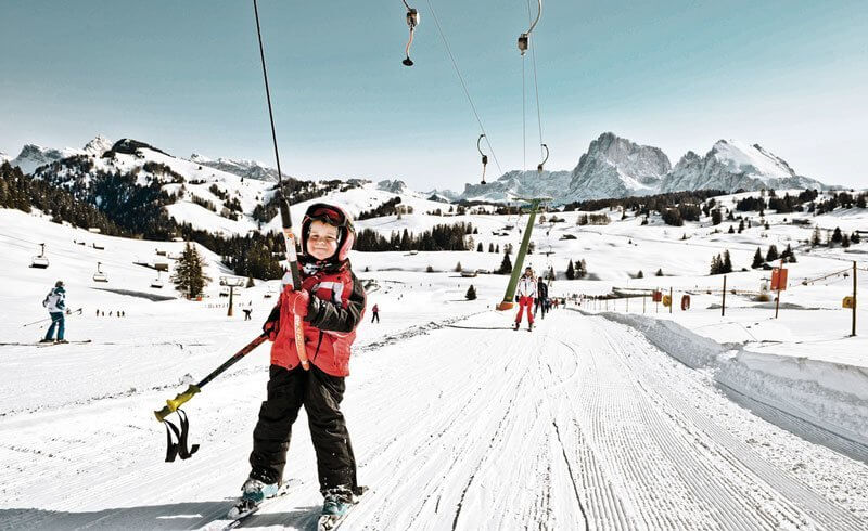 Swiss Toddler Skiing