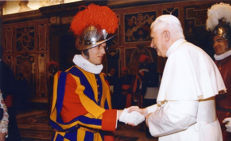 Pontificial Swiss Guards - Audience with the Pope