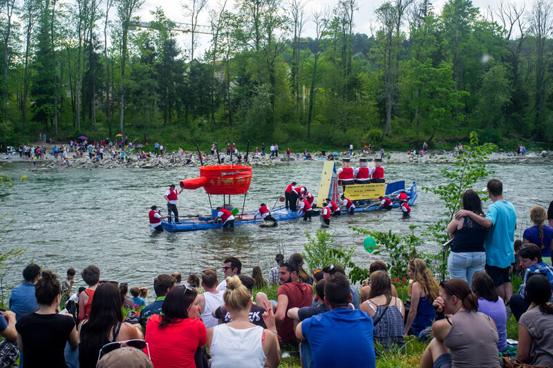 Mammoth Raft Race in Thurgau (2016)