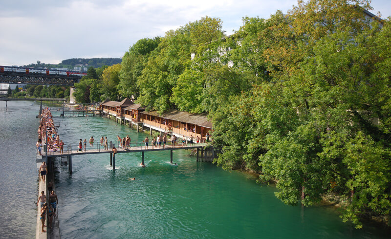 Flussbad Unterer Letten Zürich
