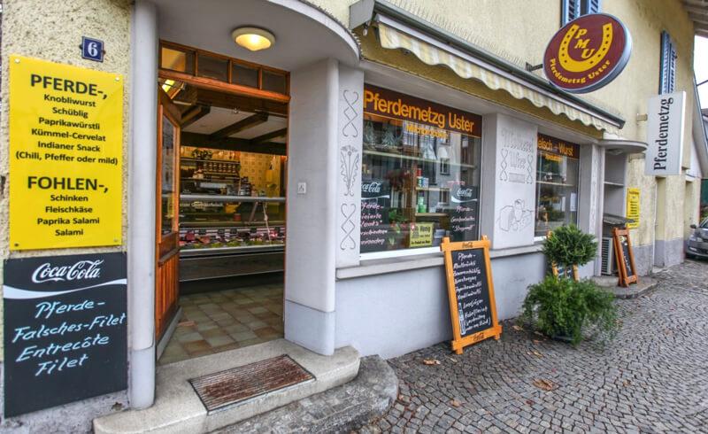 "Horse Butcher ""Pferdemetzg"" in Uster"