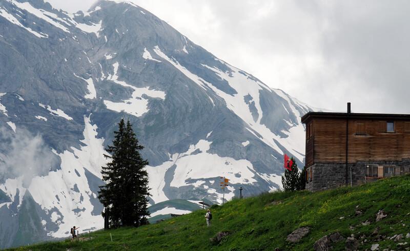 Hiking in Braunwald Gumen. Switzerland