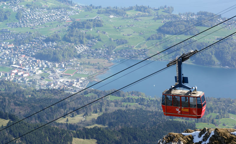 Cable Car Mt. Pilatus, Switzerland