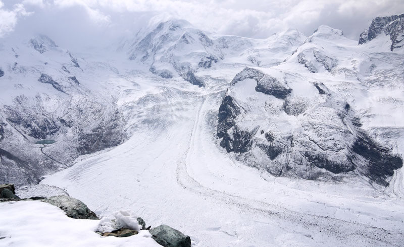 Gornetgrat Glacier, Zermatt. Switzerland
