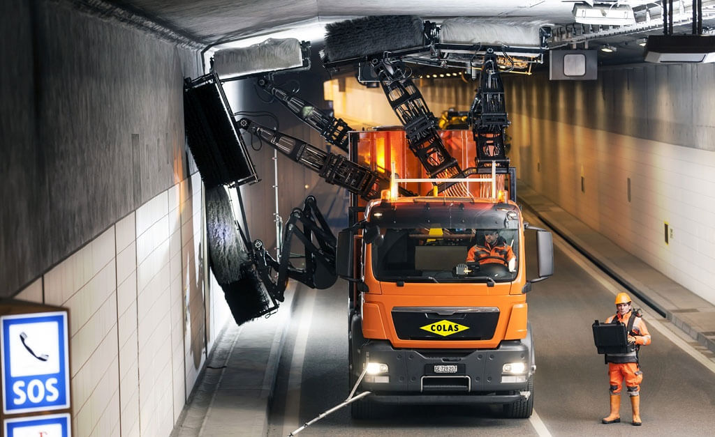 Tunnel Cleaning Machine Switzerland