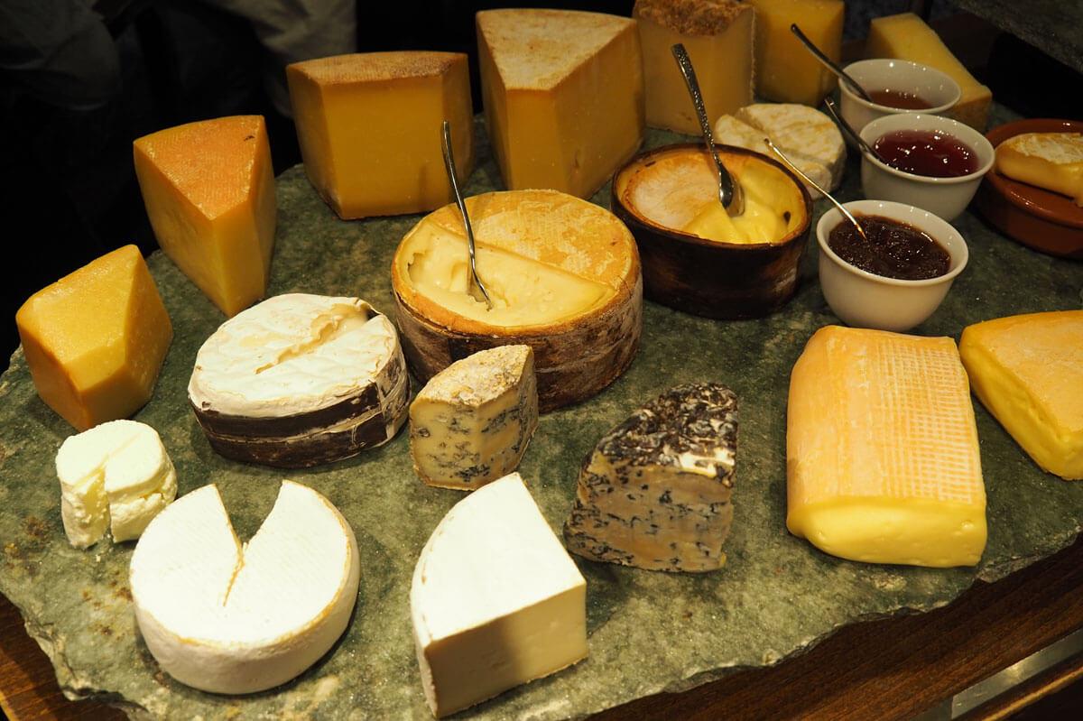 Saas-Fee - Cheese Cart at Waldhotel Fletschhorn