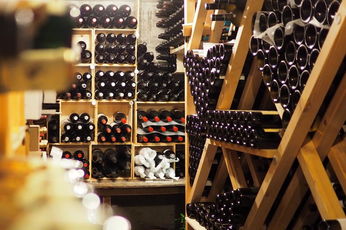 Saas-Fee - Wine Cellar at Waldhotel Fletschhorn