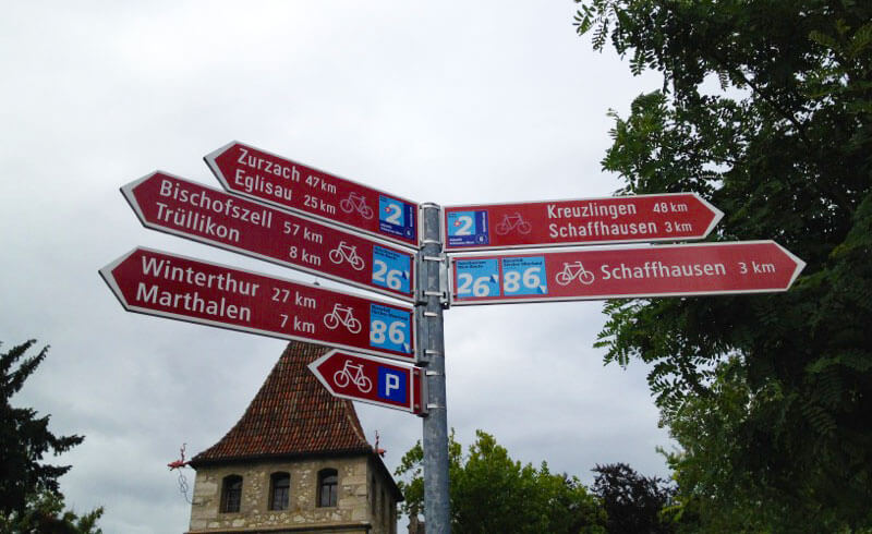 Swiss Bicycle Signs - Veloland Schweiz