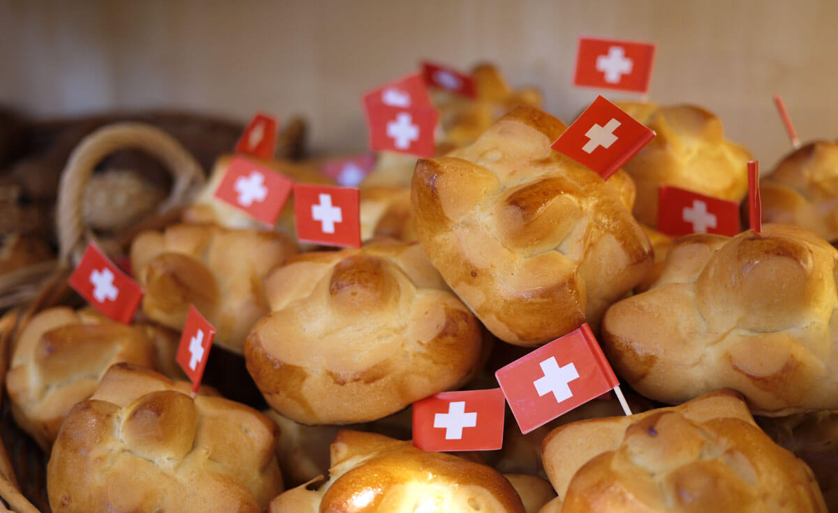Swiss National Day Buns