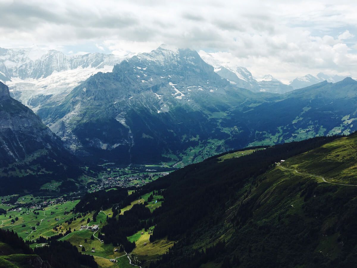 The stunning view from Grindenwald First