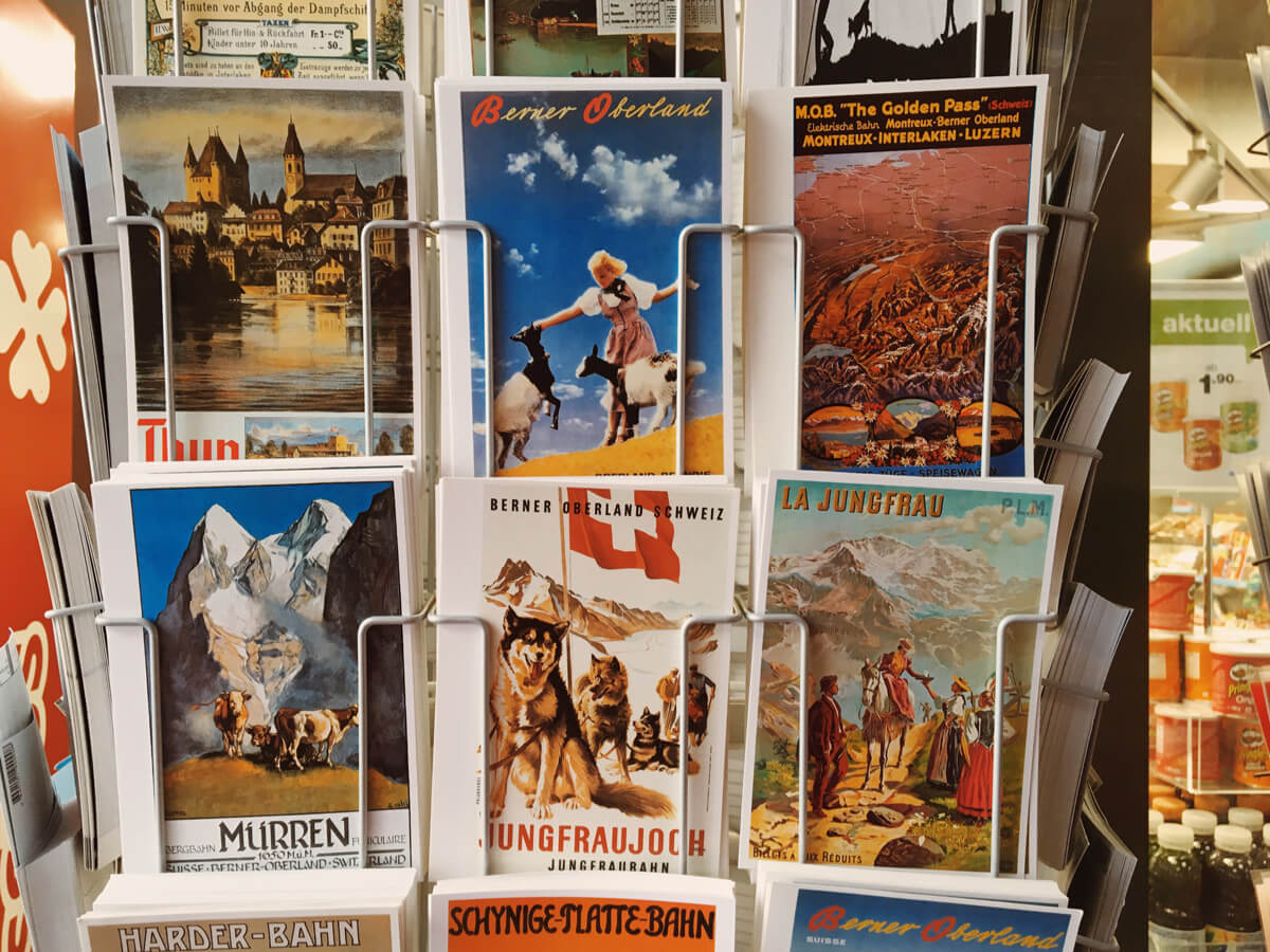 Vintage Swiss Travel Postcards