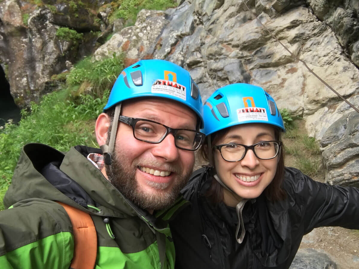 Canyoning in Zermatt, Switzerland